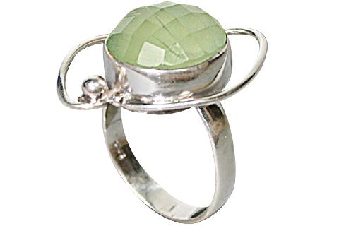 Design 10219: green prehnite rings