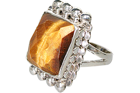 Design 10245: brown tiger eye mens rings