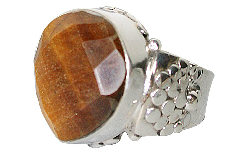 Design 10247: brown tiger eye american-southwest, mens rings