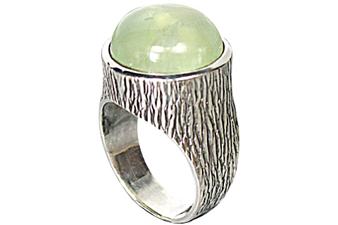 Design 10263: green prehnite rings