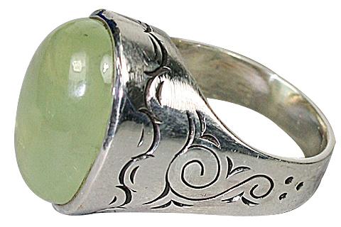 Design 10342: green prehnite rings