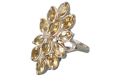 Design 10350: yellow citrine flower rings