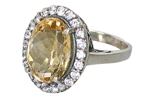 Design 10355: Yellow, White citrine rings