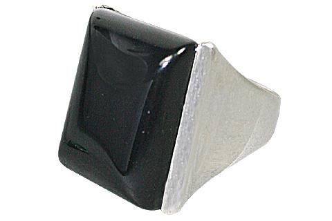 Design 10358: black onyx rings