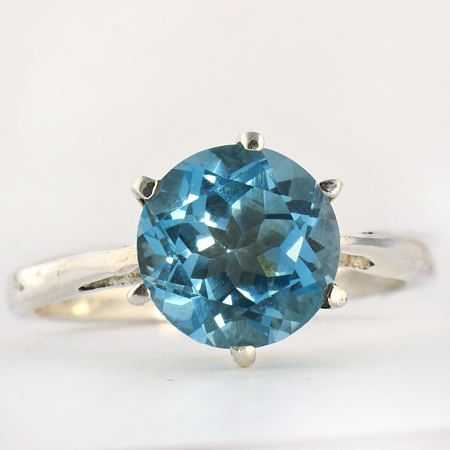 Design 10365: blue blue topaz stack rings