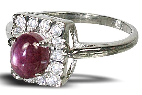 Design 10453: pink ruby rings