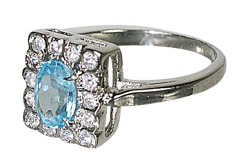Design 10455: Blue, White blue topaz rings