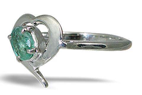 Design 10462: green emerald brides-maids rings