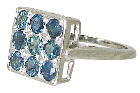 Design 10467: Blue sapphire engagement, estate rings