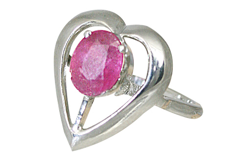 Design 10471: pink ruby engagement, heart, vintage, wedding rings