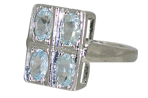 Design 10472: blue blue topaz engagement, estate, vintage rings