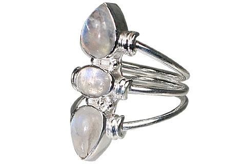 Design 10616: blue,white moonstone rings
