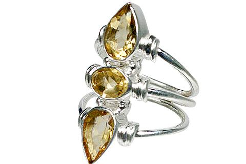Design 10619: yellow citrine rings