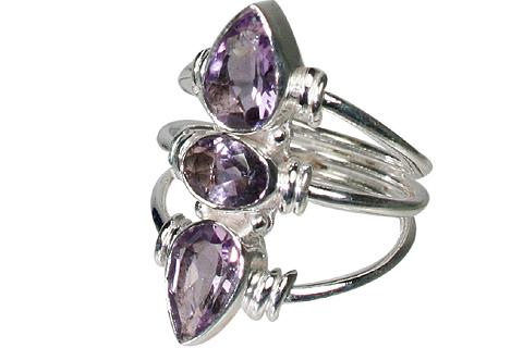 Design 10621: purple amethyst classic rings