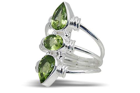 Design 10622: green peridot rings