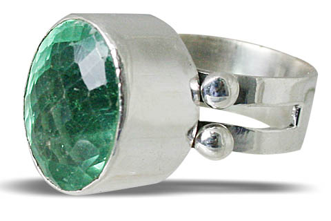 Design 10726: green fluorite rings