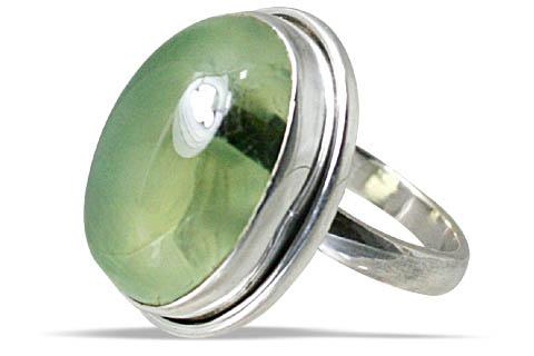 Design 10727: green prehnite rings