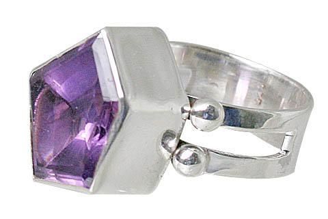 Design 10732: purple amethyst rings