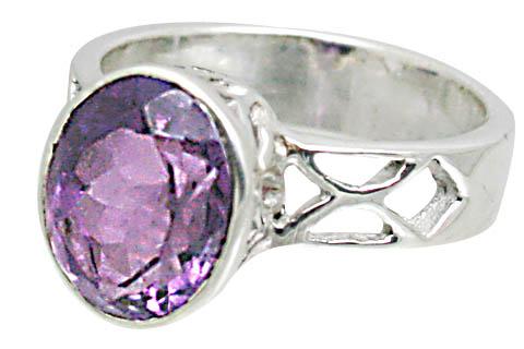 Design 10798: purple amethyst rings