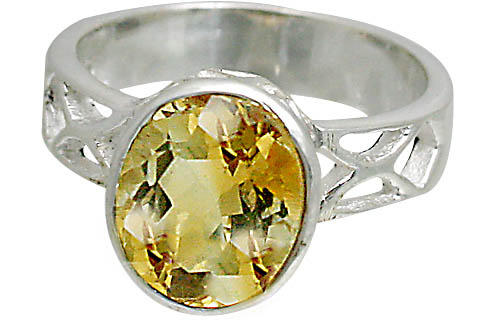 Design 10802: yellow citrine rings