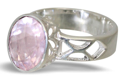 Design 10803: pink rose quartz rings