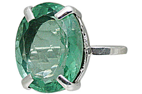 Design 10810: green fluorite rings