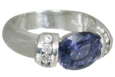 Design 10830: blue iolite brides-maids rings