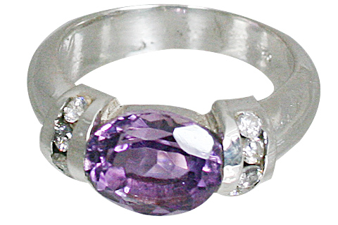 Design 10834: purple,white amethyst brides-maids rings