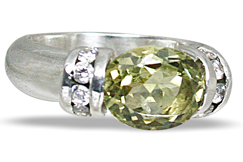 Design 10836: green lemon quartz engagement rings