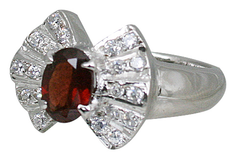Design 10844: red garnet rings