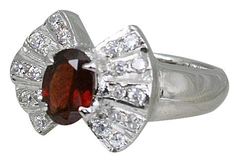 Design 10844: red garnet rings