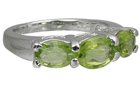 Design 10846: green peridot rings