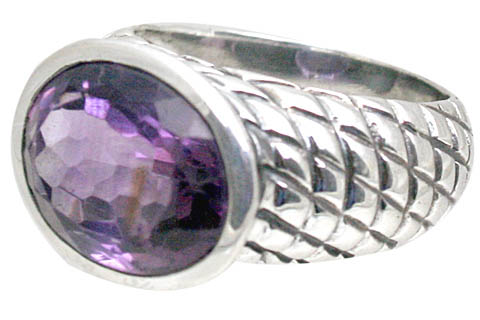 Design 10869: purple amethyst rings