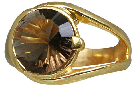 Design 10976: brown smoky quartz brides-maids rings