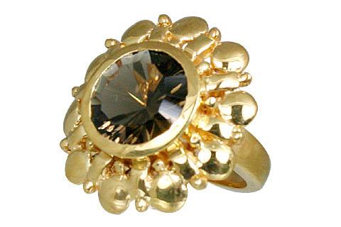 Design 11001: brown smoky quartz brides-maids rings