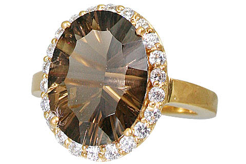 Design 11003: brown smoky quartz brides-maids rings