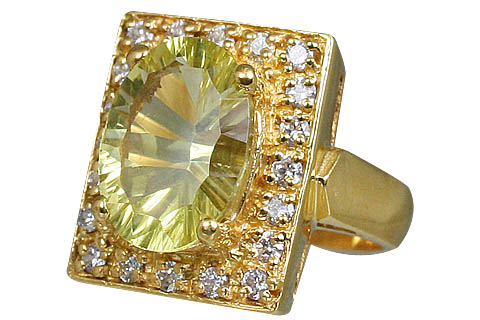 Design 11004: yellow lemon quartz brides-maids rings