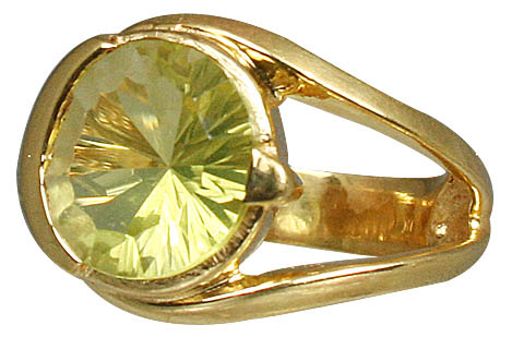 Design 11017: green lemon quartz brides-maids rings