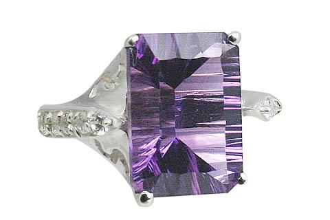 Design 11049: purple amethyst cocktail rings