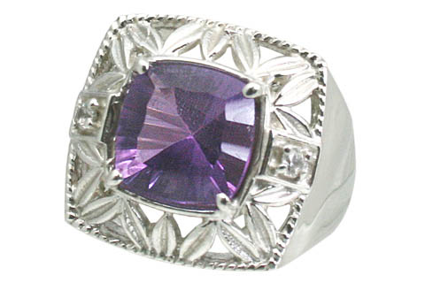 Design 11050: purple amethyst gothic-medieval rings