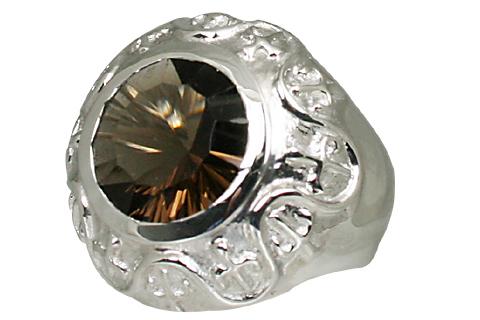 Design 11051: brown smoky quartz engagement rings