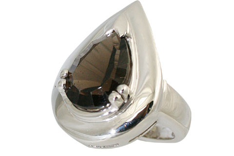 Design 11055: brown smoky quartz mens rings