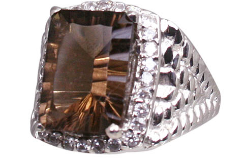Design 11059: brown smoky quartz engagement rings
