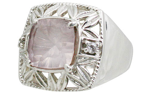 Design 11061: pink rose quartz engagement rings