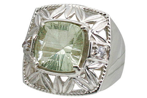Design 11063: green green amethyst engagement, estate, mens rings