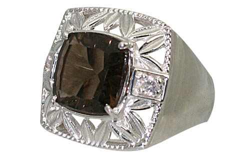 Design 11067: brown smoky quartz brides-maids rings
