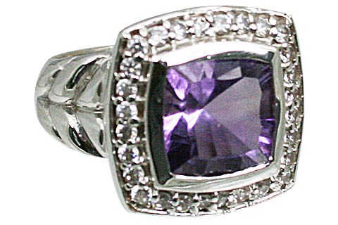 Design 11070: purple amethyst brides-maids rings
