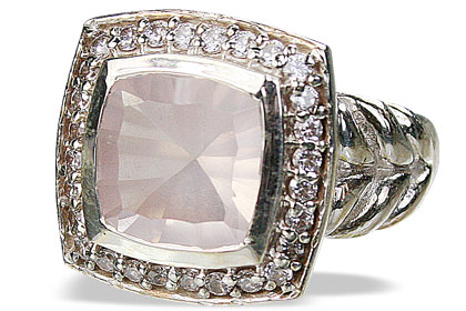 Design 11071: pink rose quartz engagement, estate rings