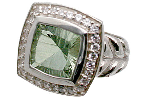 Design 11072: green green amethyst engagement, estate, mens rings
