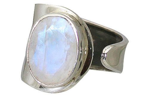 Design 11368: white moonstone staff-picks rings